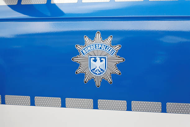 german police car - Bundespolizei stock photo