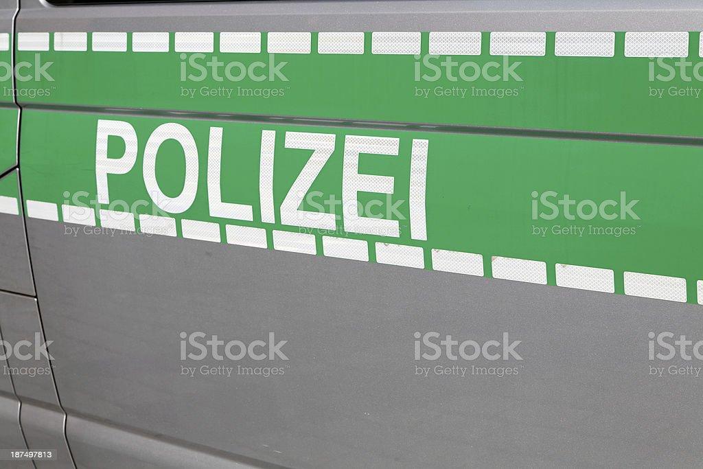 german police car - Polizei royalty-free stock photo
