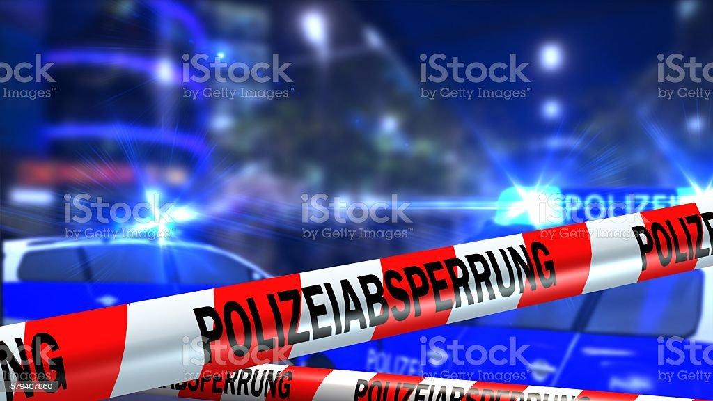 German Police line - roadblock - crime scene – Foto