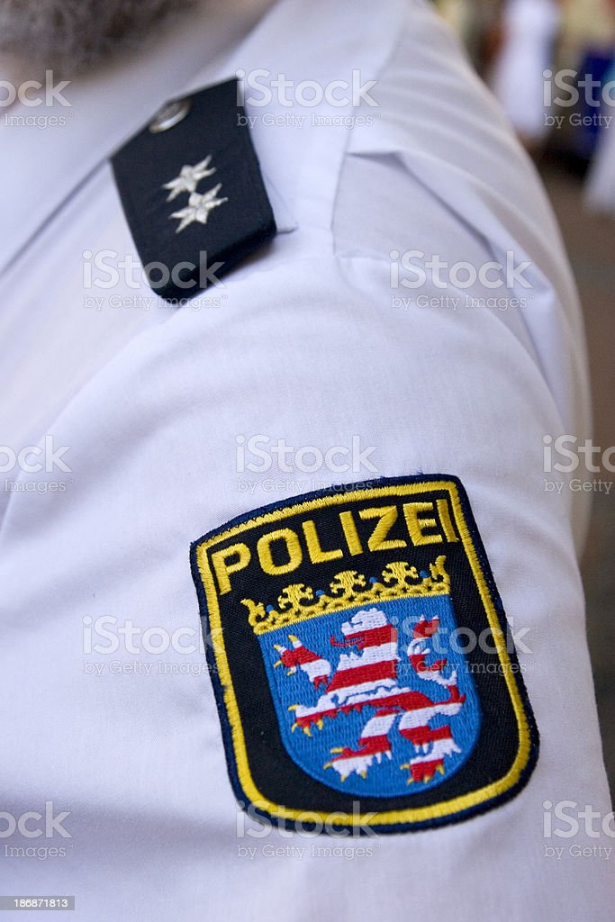 German Police Patch stock photo