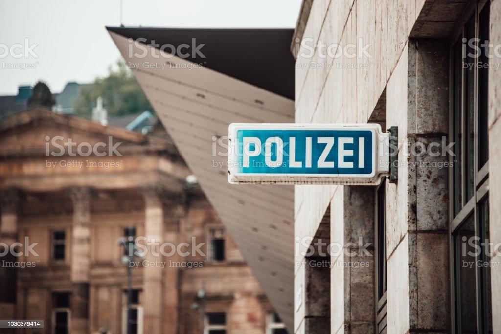Deutsche Polizei Zeichen – Foto