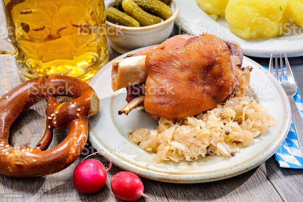 German Pork Knuckle stock photo
