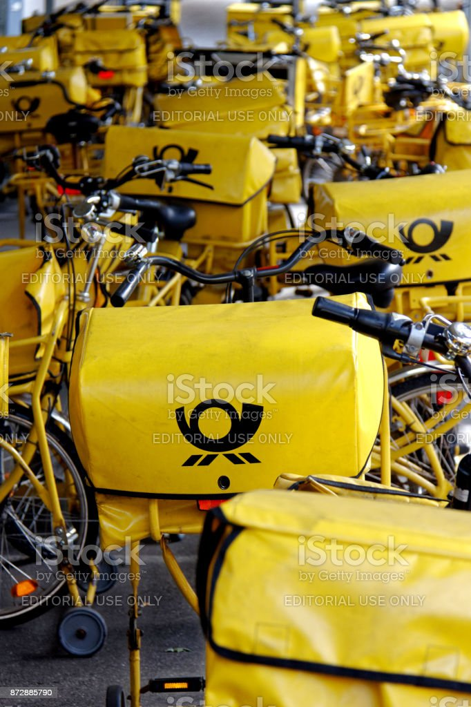 german post bicycles stock photo