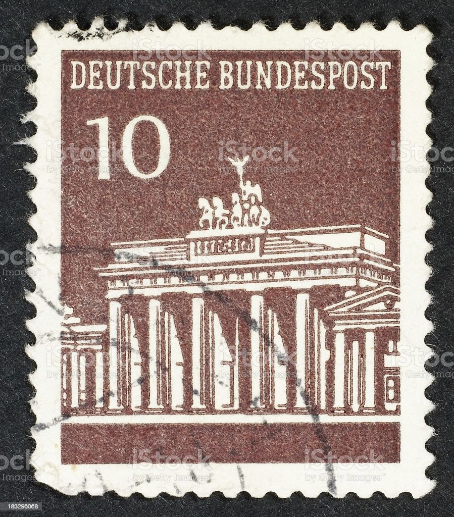 German postage stamp royalty-free stock photo