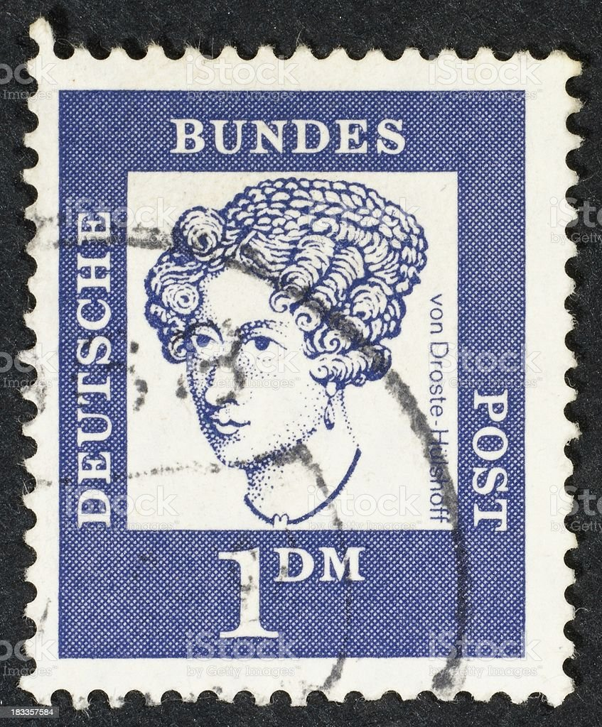 German postage stamp stock photo