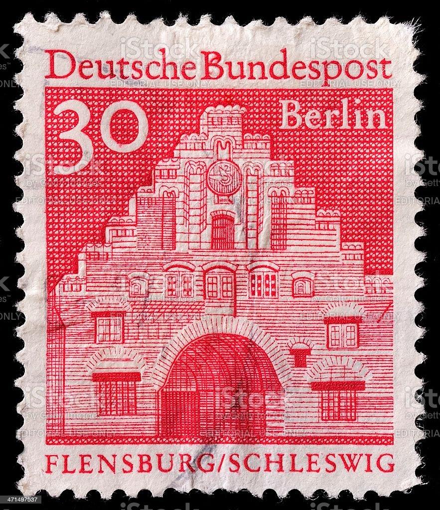German Postage Stamp stock photo