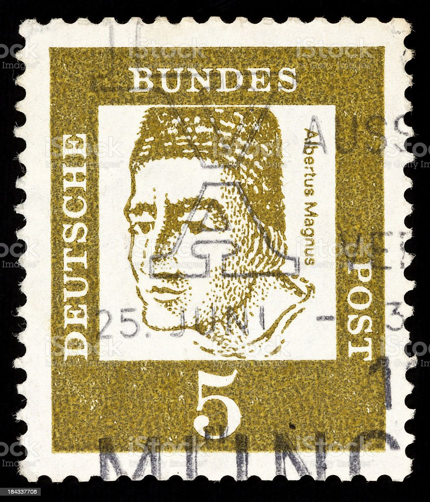 German Postage Stamps stock photo