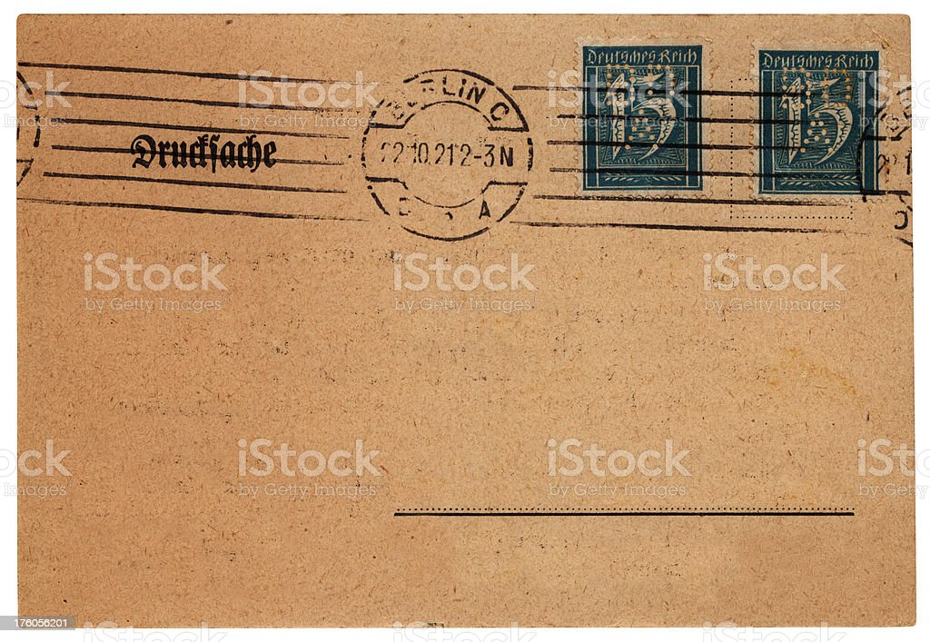 German postcard from Berlin, posted 1921 royalty-free stock photo