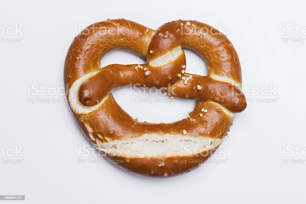 German pretzel royalty-free stock photo