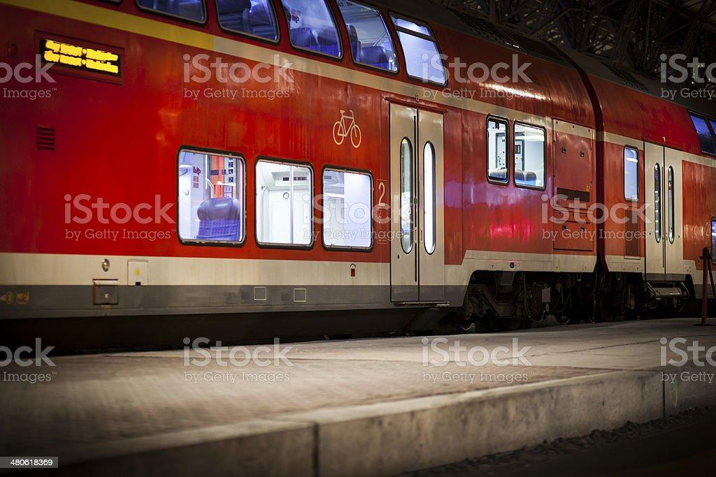 German regional train royalty-free stock photo
