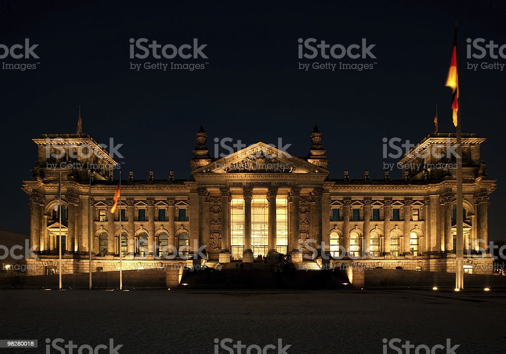 German Reichstag royalty-free stock photo