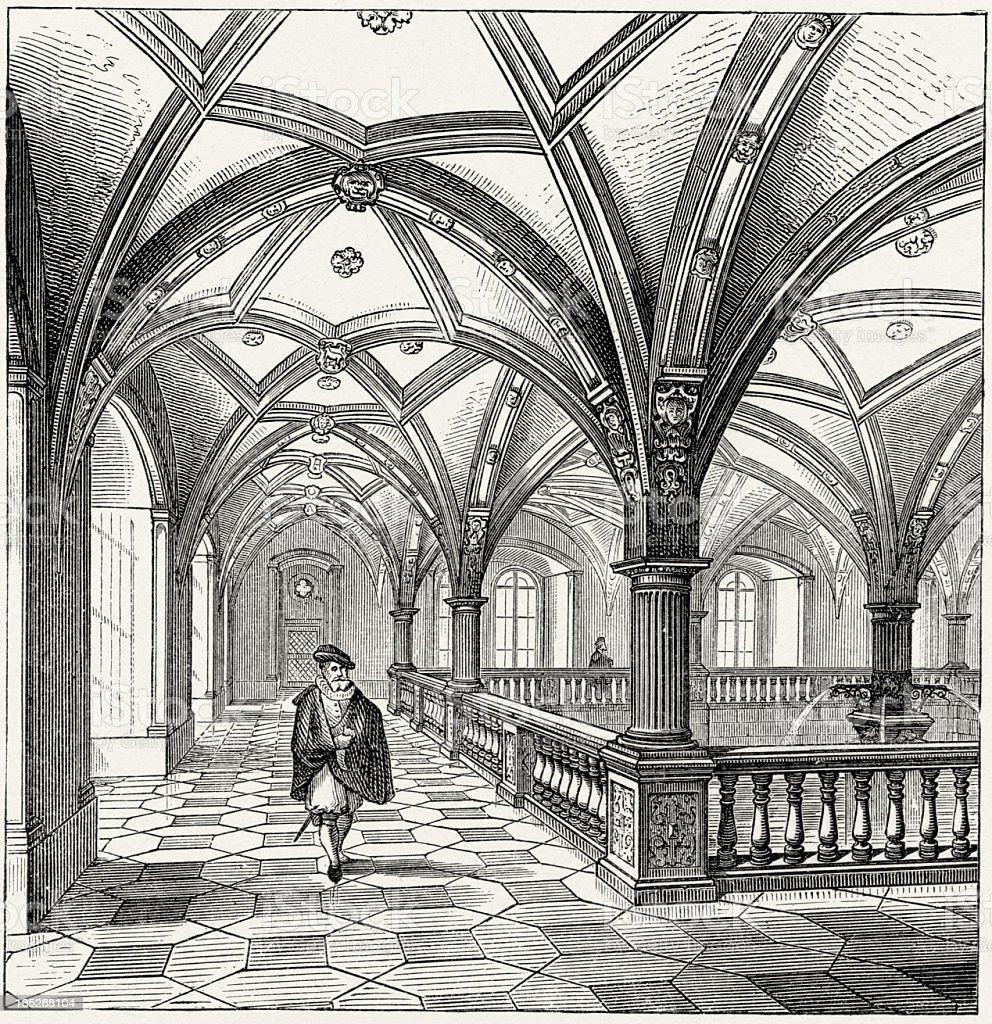 German Renaissance Architecture, Stuttgart stock photo