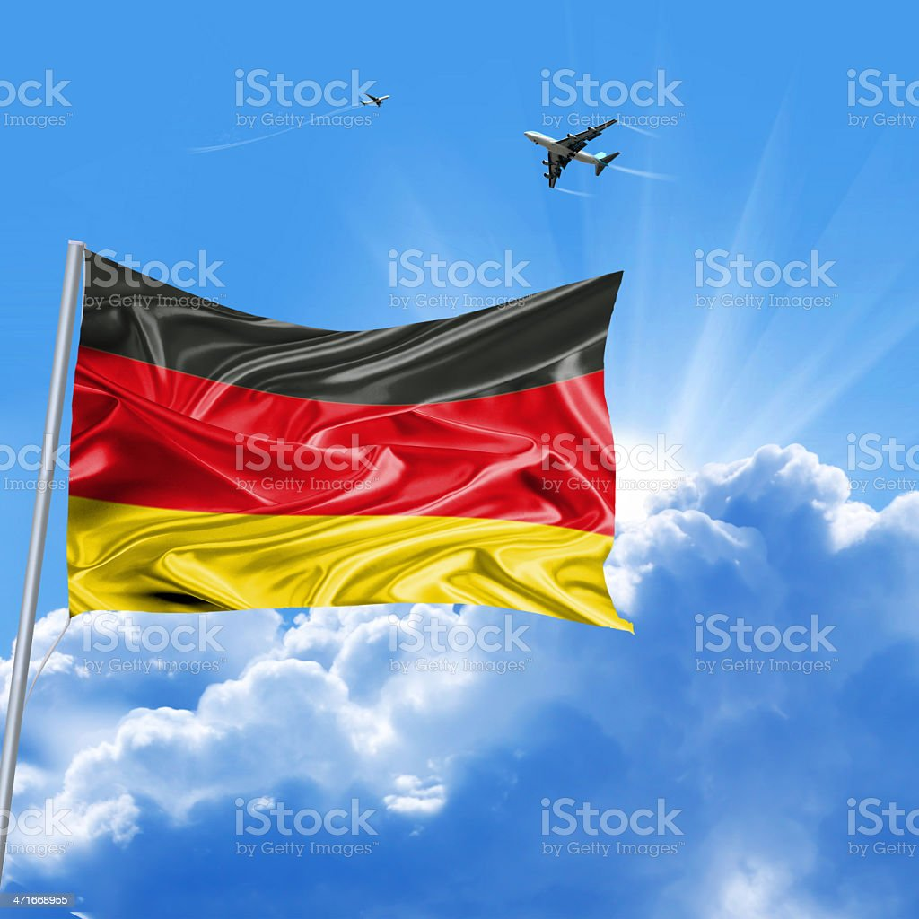 German Republic flag holiday royalty-free stock photo
