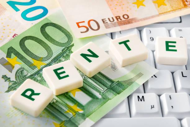 Deutsche Renten-und Euro-Banknoten – Foto