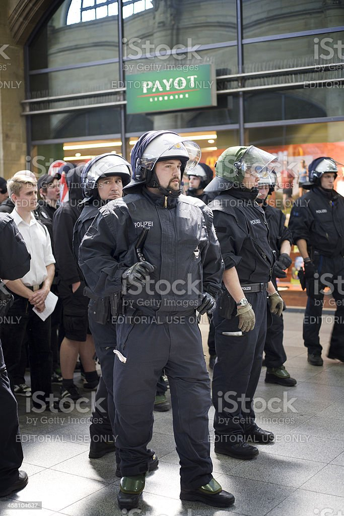 German riot police royalty-free stock photo