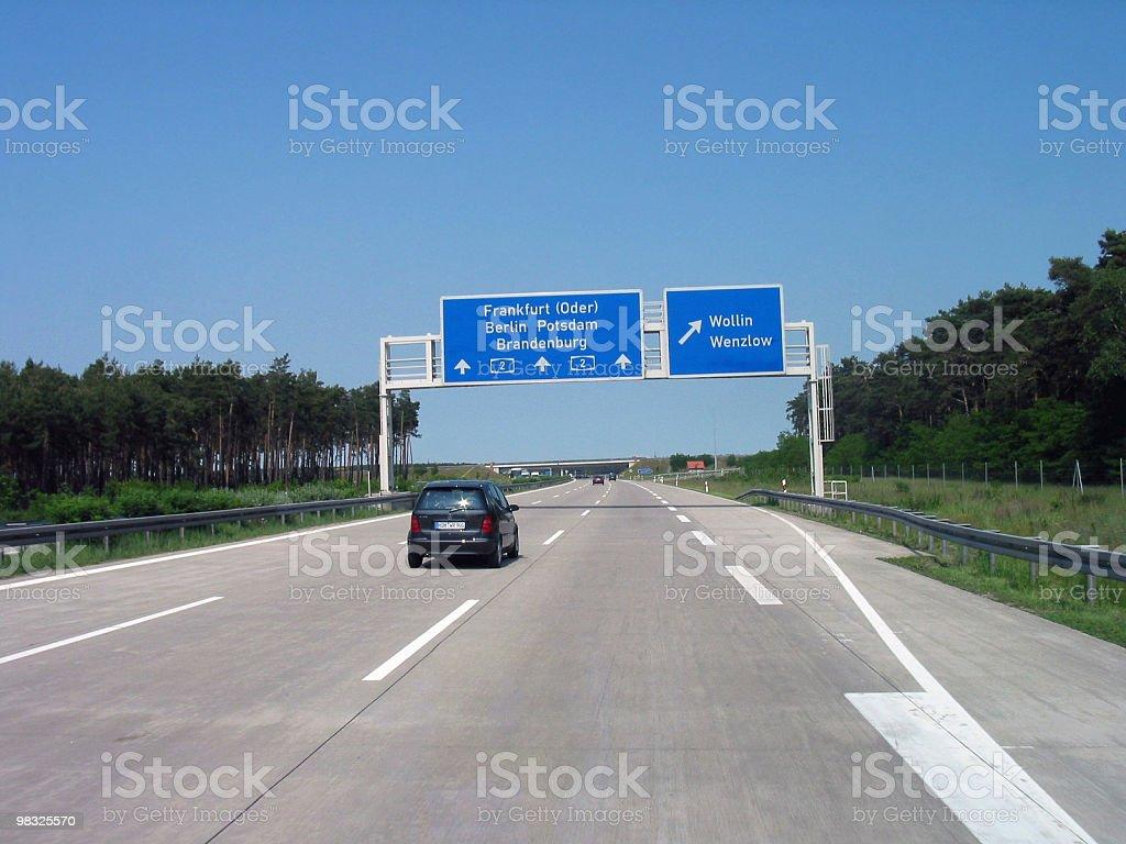 German road royalty-free stock photo