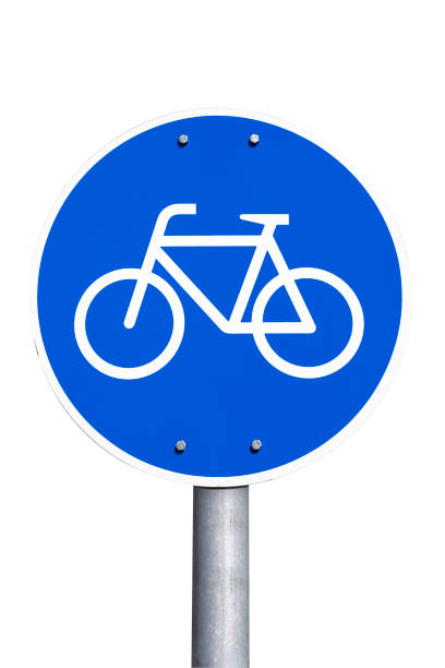 deutsche schild – fahrradweg, bicycle light - radwege deutschland stock-fotos und bilder