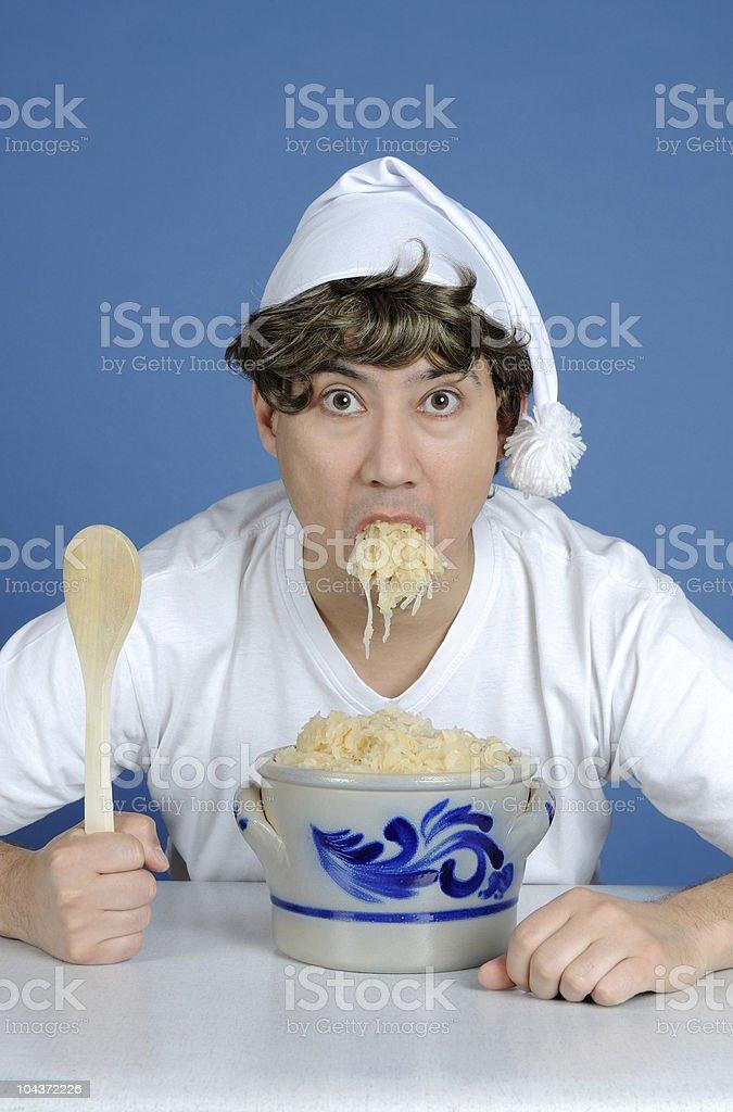 Sauerkrautfresser ou manger une choucroute allemande - Photo