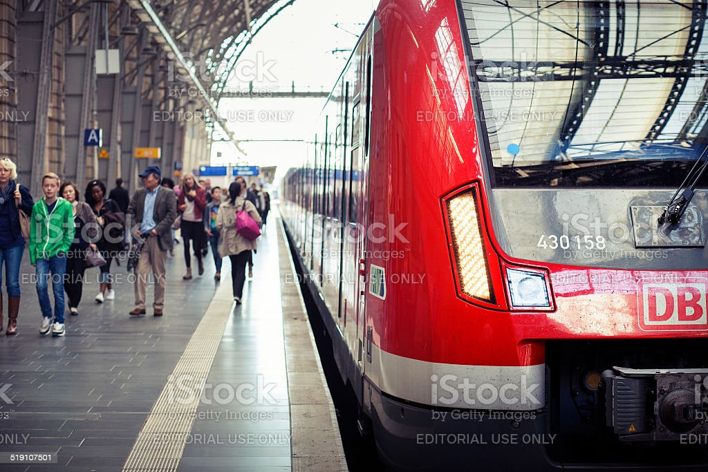 German S-Bahn stock photo