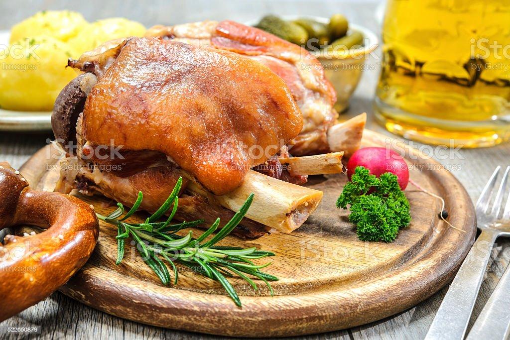 German Schweinshaxe stock photo