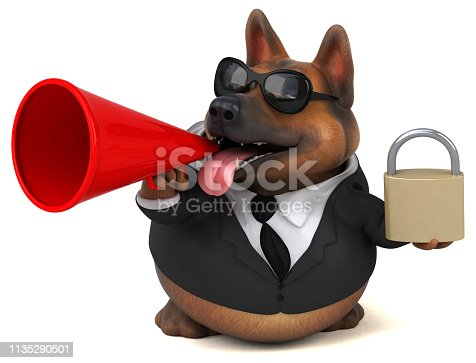 istock German shepherd dog - 3D Illustration 1135290501