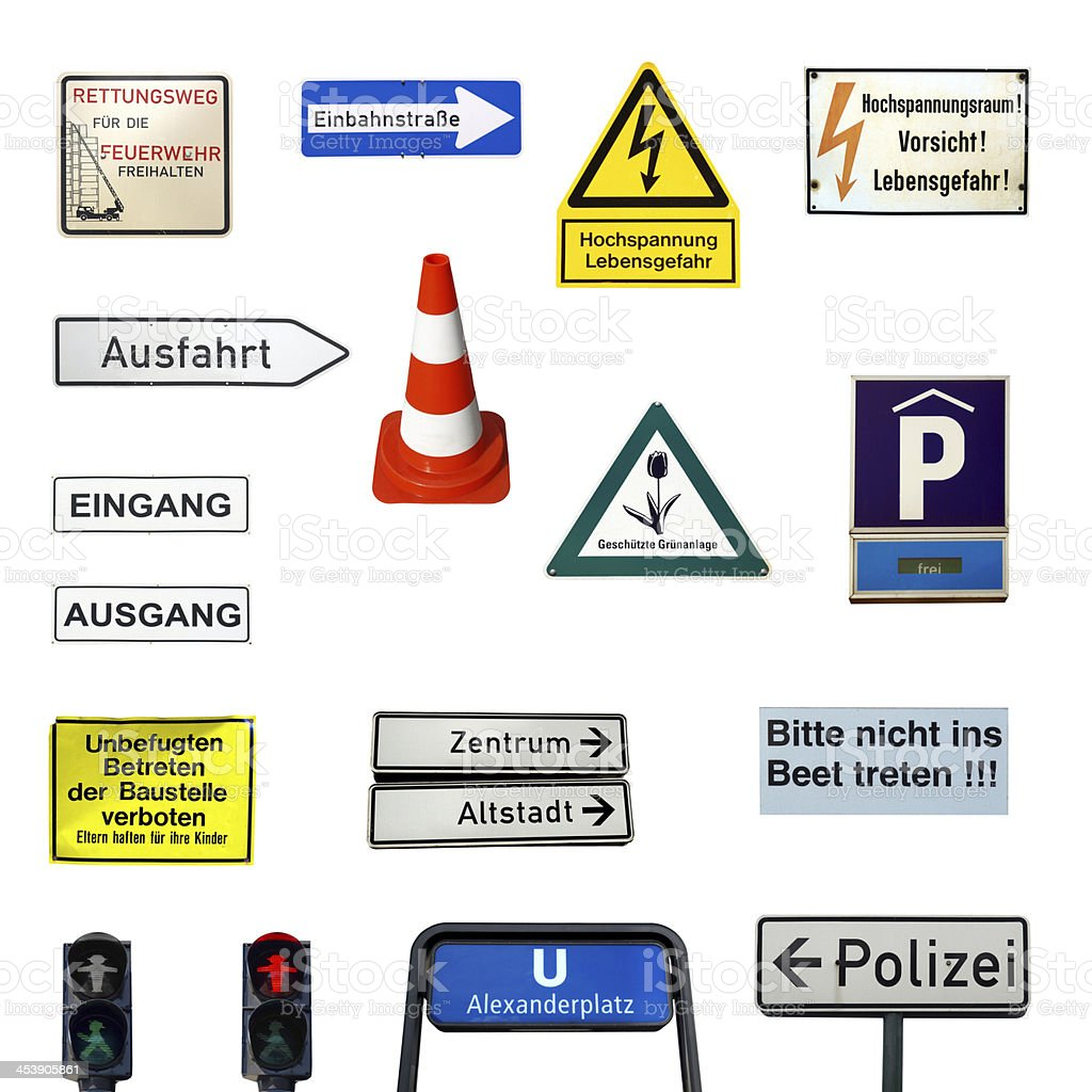 German signs royalty-free stock photo