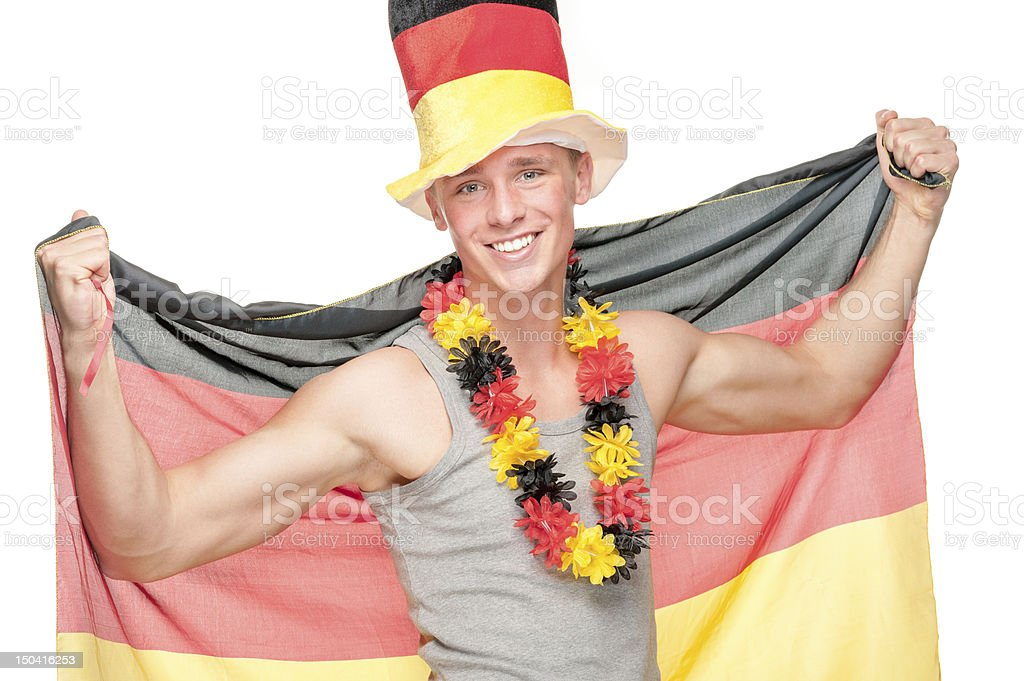 German soccer fan royalty-free stock photo