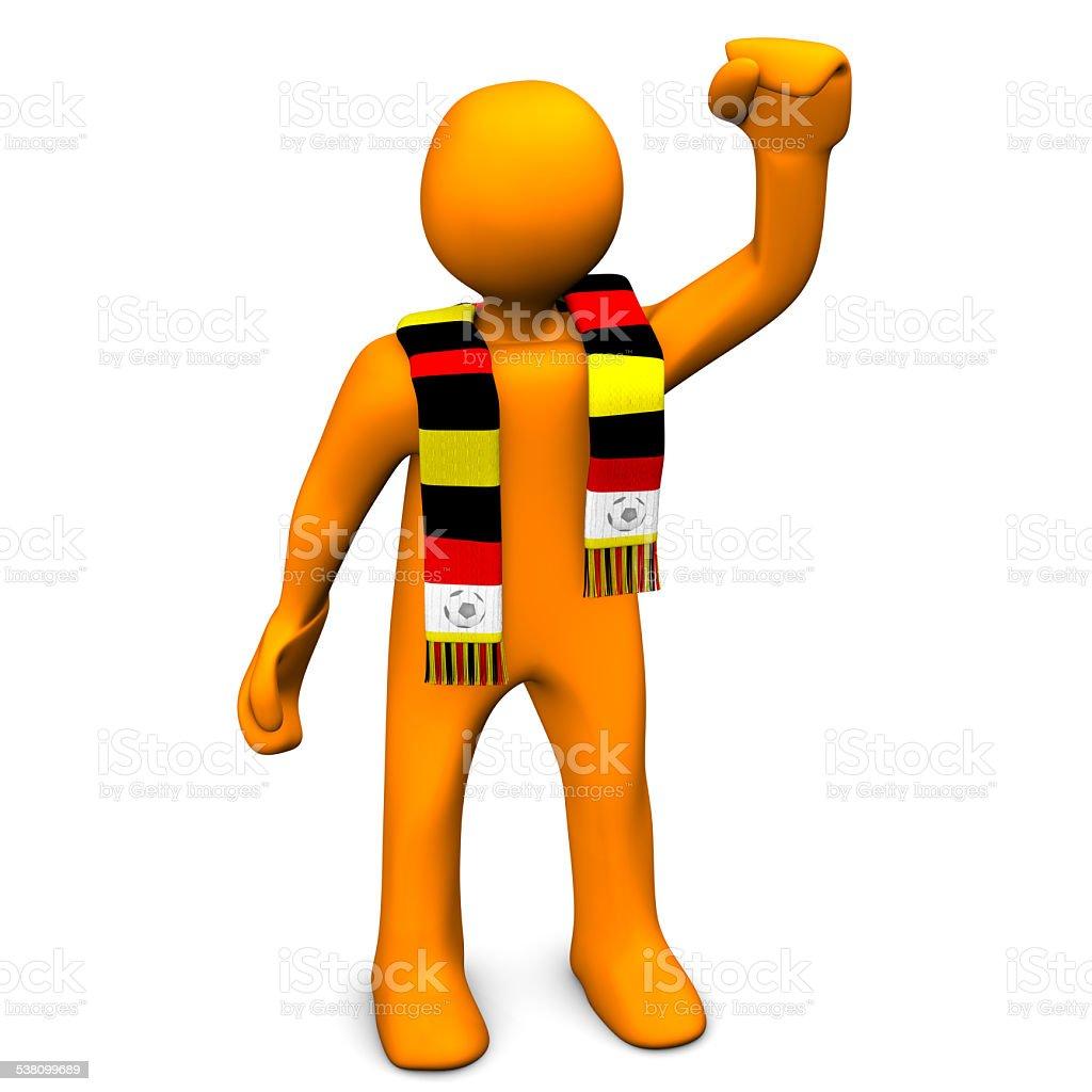 German Soccer Fan stock photo