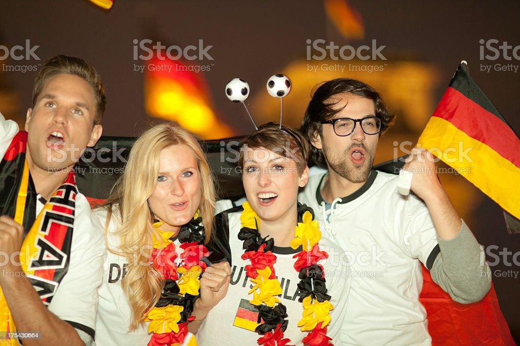 german soccer fans stock photo