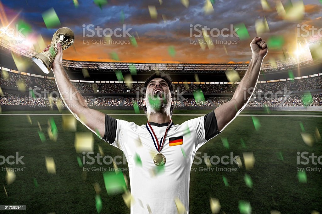 German soccer player stock photo