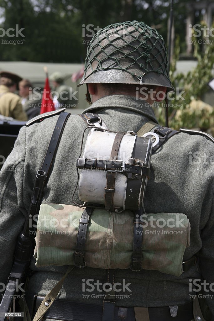 German soldier royalty-free stock photo