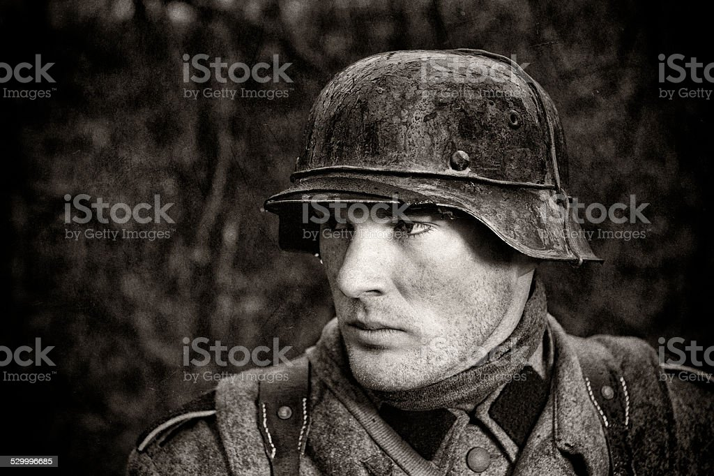 German Soldier - WWII - Portrait stock photo