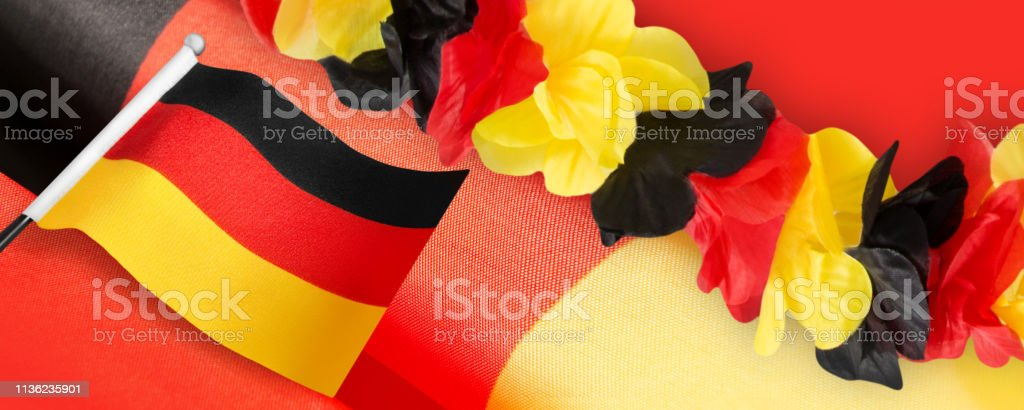 German Sports Fan Party Decorations Stock Photo Download