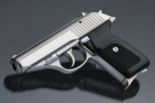 German Stainless Steel 380ACP Handgun stock photo