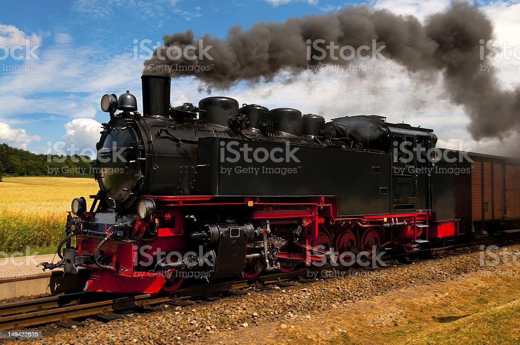 German steam train stock photo