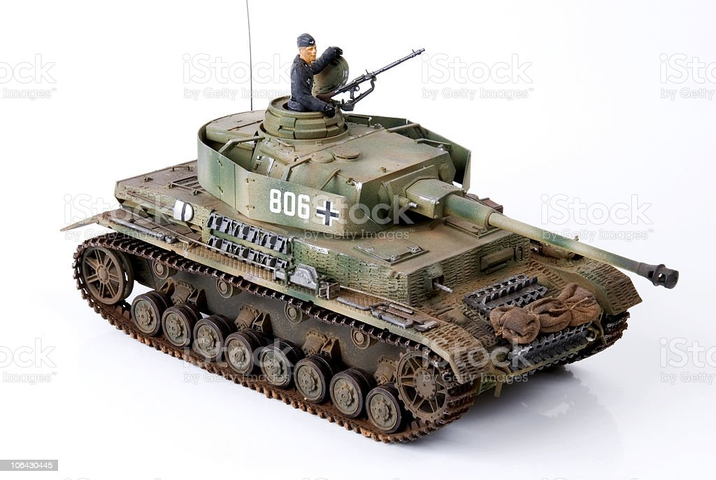 German tank model. royalty-free stock photo