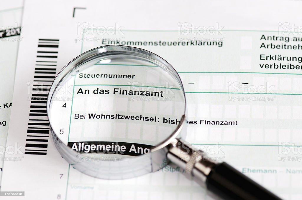 Deutsche Steuererklärung-Einkommensteuererklaerung – Foto
