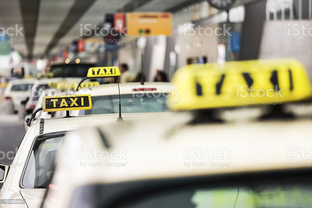German Taxis Waiting stock photo