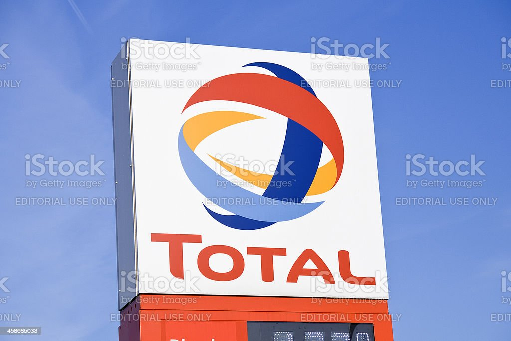 German Total Gas Station sign stock photo