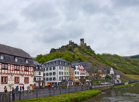 German town Beilstein on the Mosel riverbank