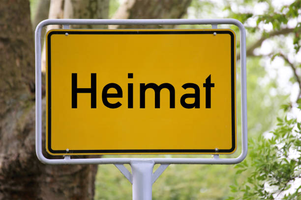 german town-sign with the letters homeland - place sign stock pictures, royalty-free photos & images