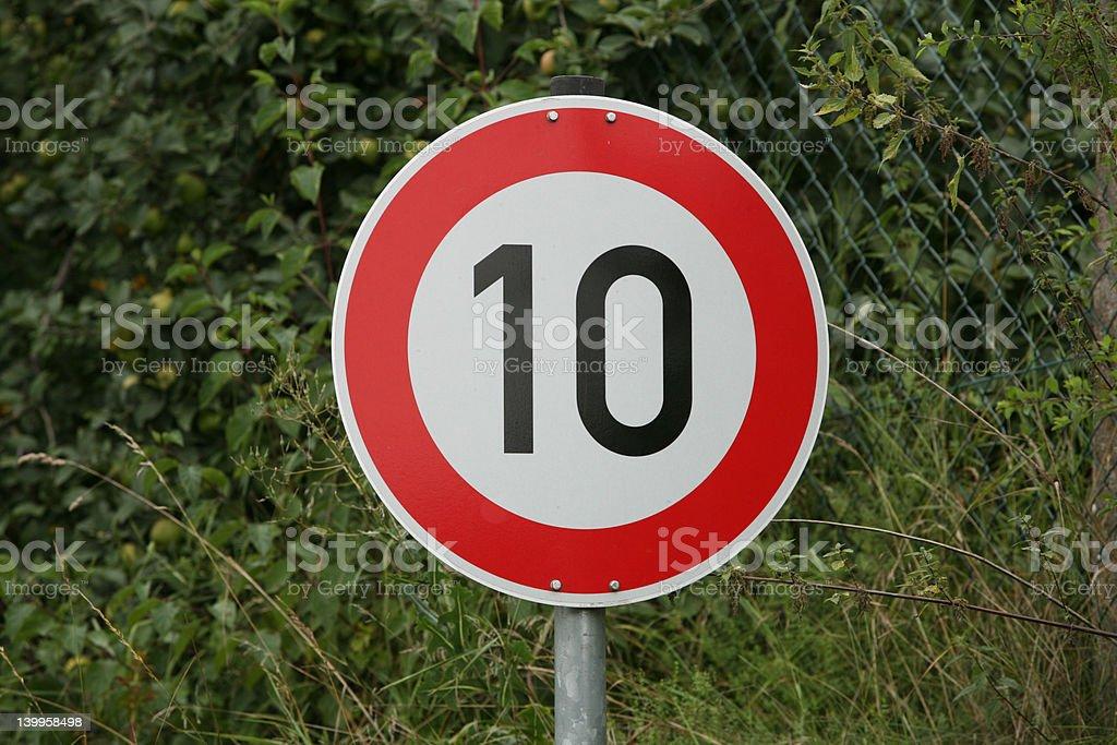 German Traffic Sign Ten stock photo