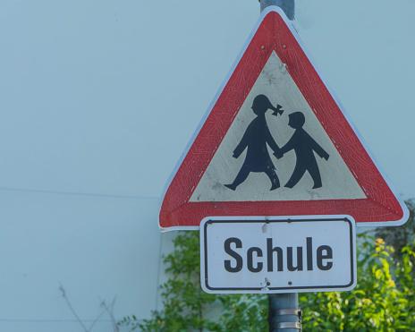 """German Traffic Sign Way to School german """"Schule"""""""