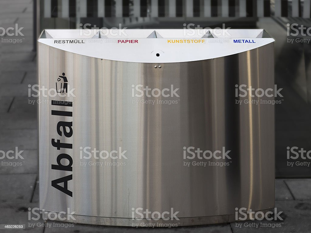 German trash container stock photo