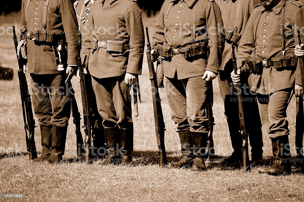 WW1 German Troops. stock photo