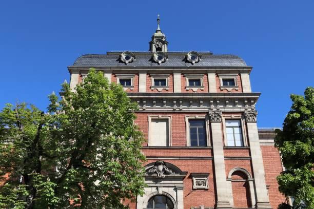 German University Erlangen town in Germany (region of Middle Franconia). University building at Friedrich-Alexander University Erlangen-Nurnberg. erlangen stock pictures, royalty-free photos & images