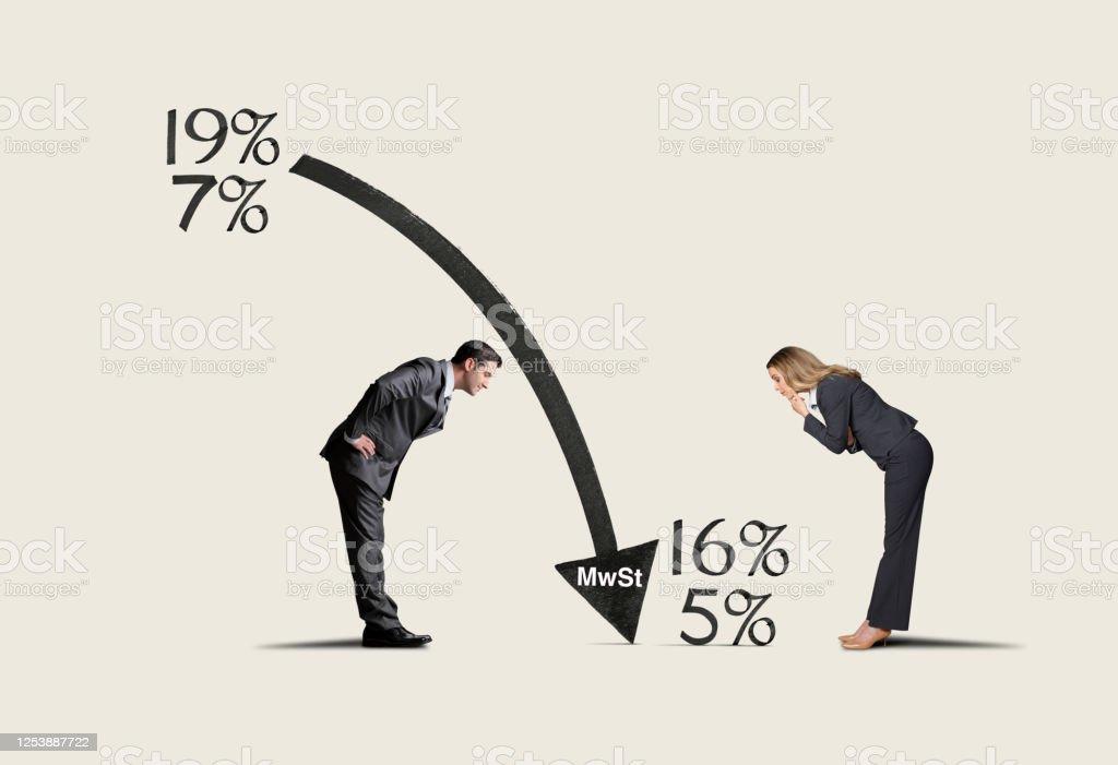 German MwSt Tax Reduction - Lizenzfrei 16 Stock-Foto