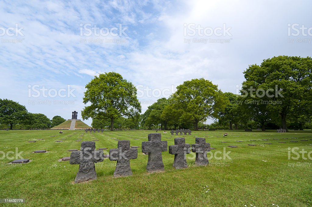 German War Cemetery in Normandy, France royalty-free stock photo