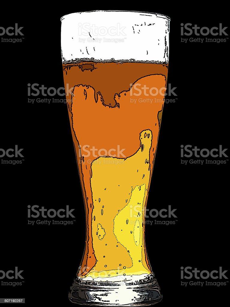 German wheat beer royalty-free stock photo