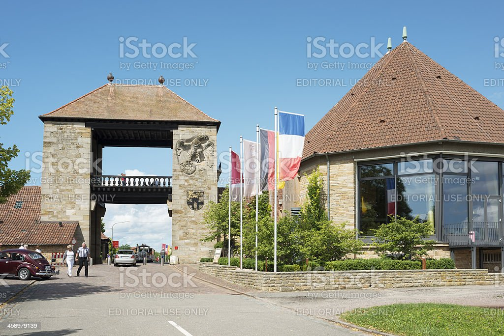 German Wine Gate stock photo